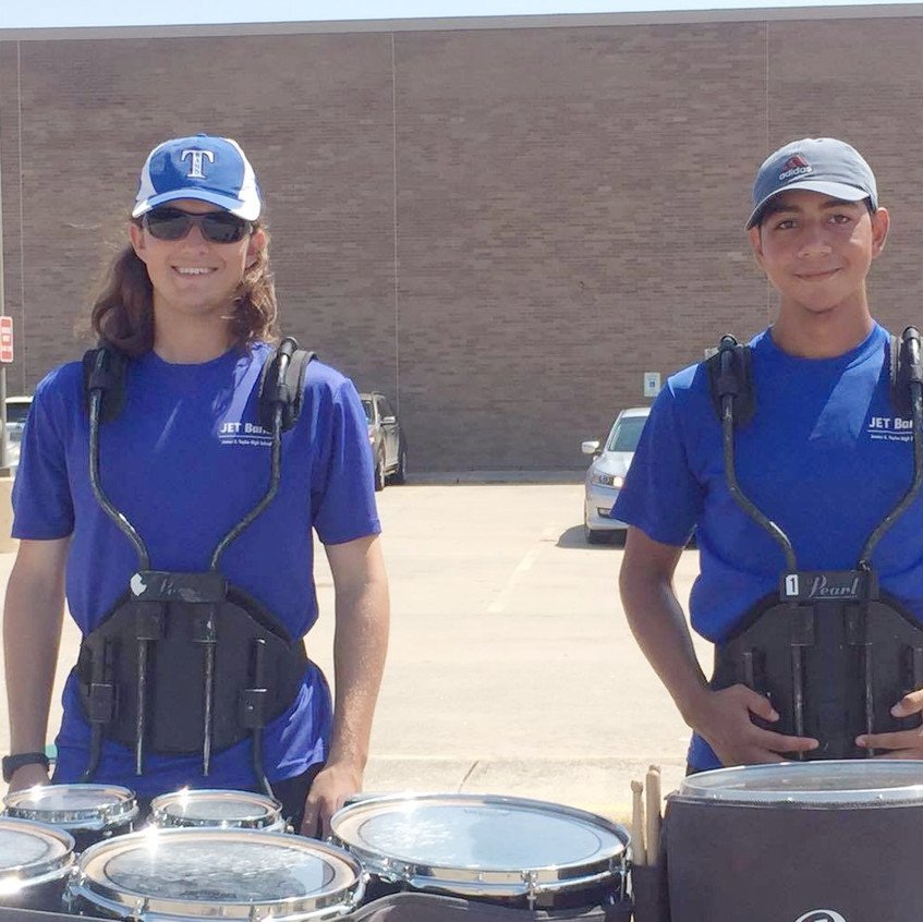 Percussionists in the JET Band