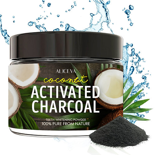 Teeth Whitening Activated Charcoal Powder with Xylitol - 2.2 oz