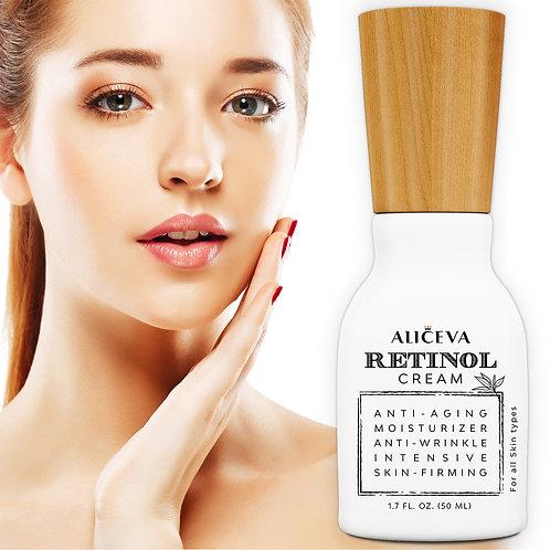 Aliceva Retinol Moisturizer Cream for Face and Eye Area