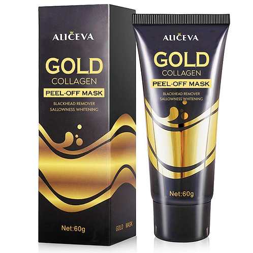 Aliceva Collagen Gold Face Mask, Blackhead Remover Mask, Blackhead Peel off Mask