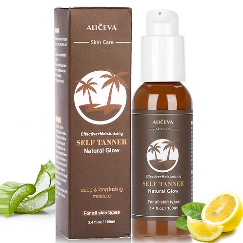 Aliceva Self Tanner - Tanning Lotion with Organic & Natural Ingredients, Flawles