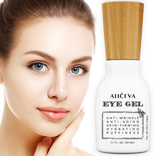 Aliceva Eye Gel for Wrinkles, Skin Firming, Fine Lines, Dark Circles, Puffiness