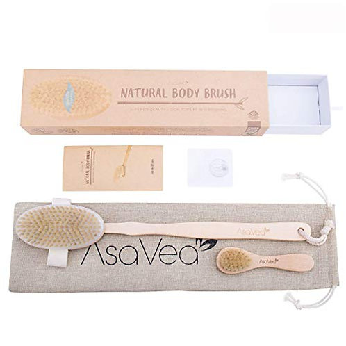 100% Natural Dry & Bath Body Brush