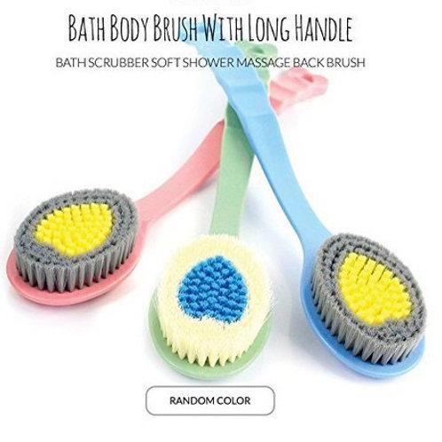 Aliceva Bath Body Brush with Long Handle - Multi Function Soft Bath Brush for Sh