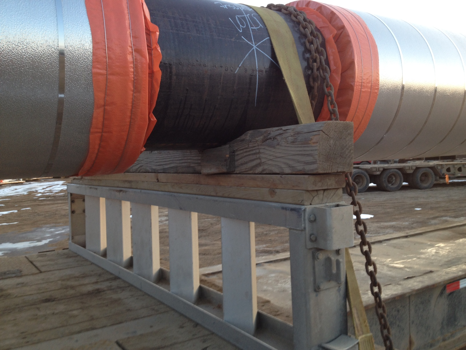 Oil Sands insulated pipe