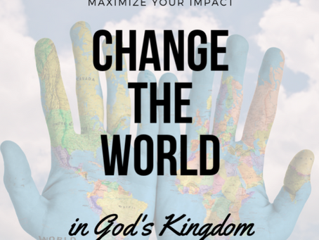 Change the World. Start Today.