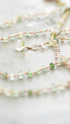 NECKLACE GREEN OPHELIA WITH GREEN TOURMALINE
