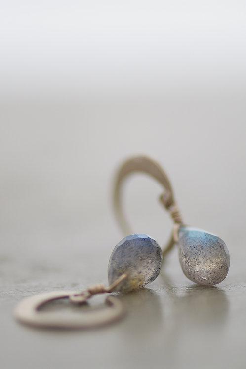 earrings lunetta with labradorite