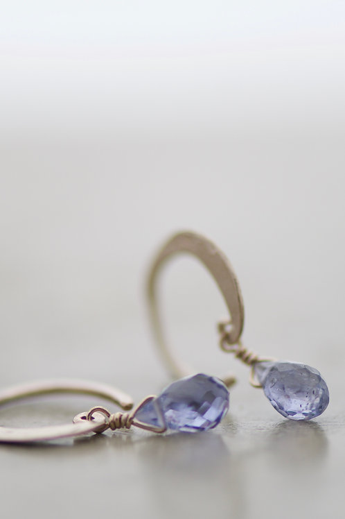 earrings lunetta with iolite