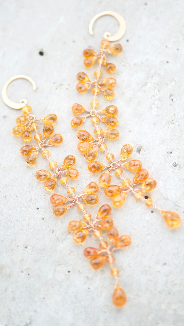 EARRINGS ORANGE CASCADE