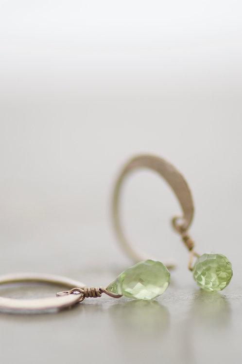 earrings lunetta with peridots
