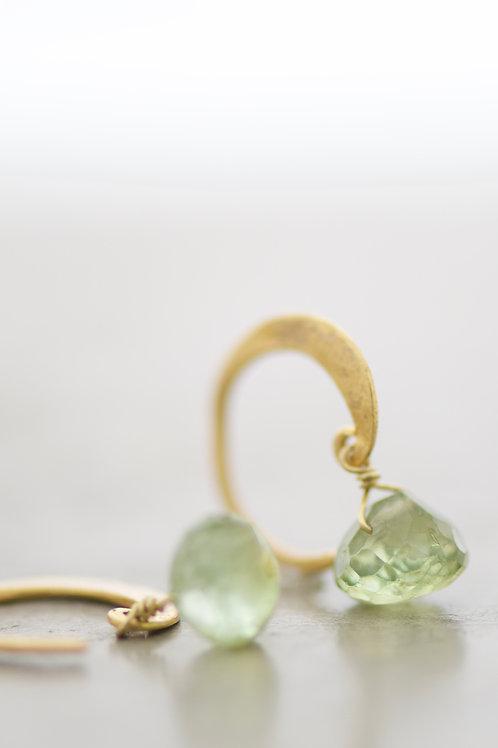 earrings lunetta with tourmaline