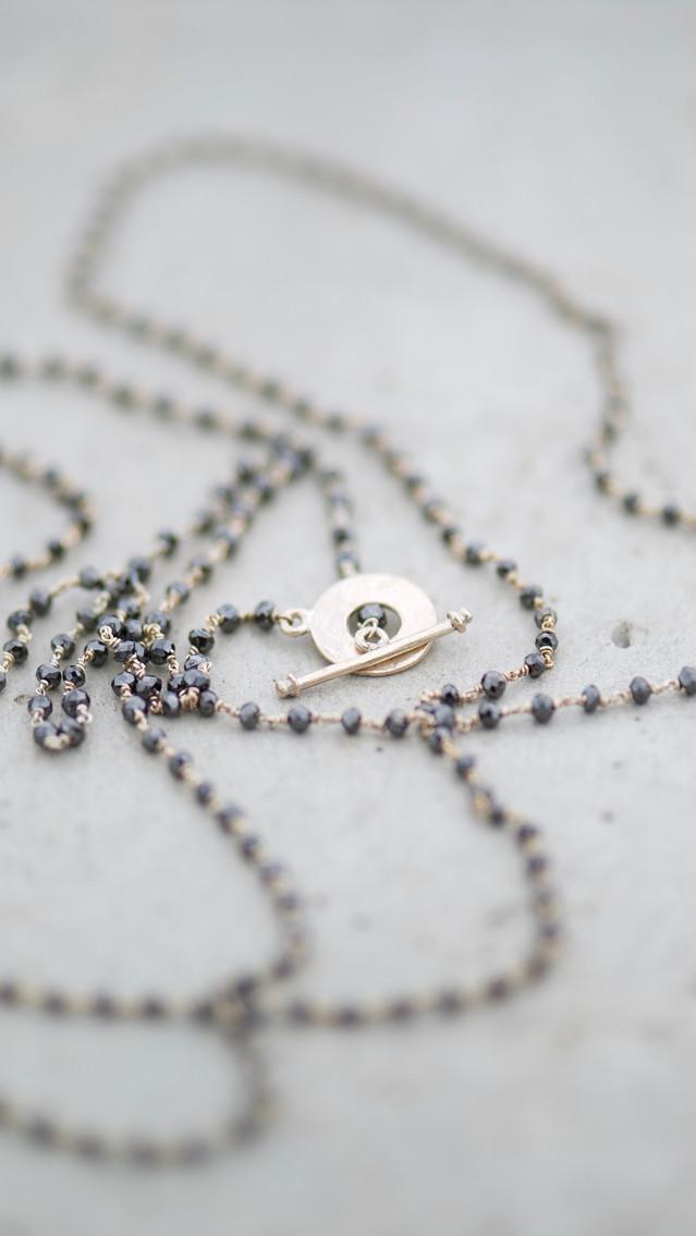 NECKLACE OPHELIABLACK DIAMONDS
