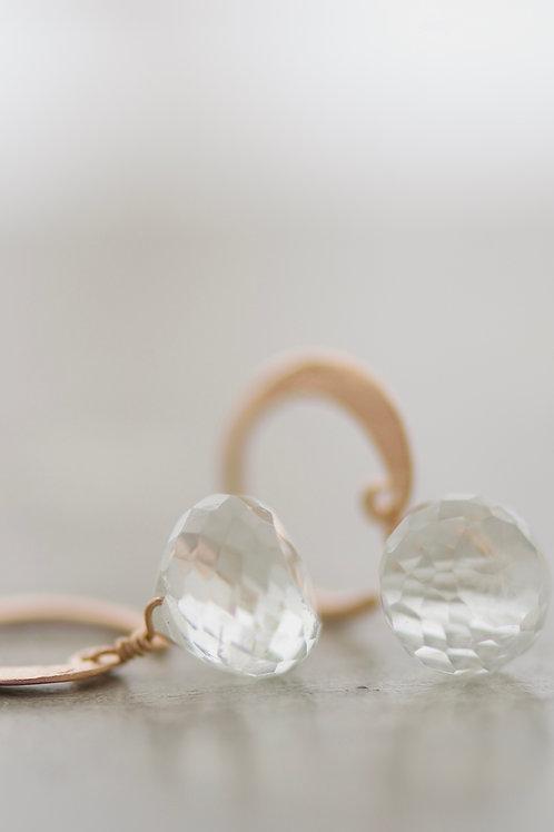 earrings lunetta with prasiolite