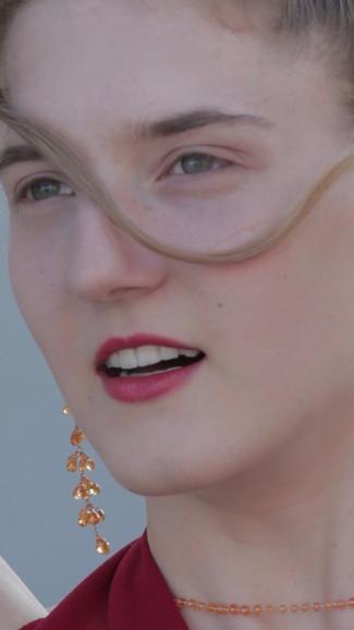 EARRINGS ORANGE CASCADE