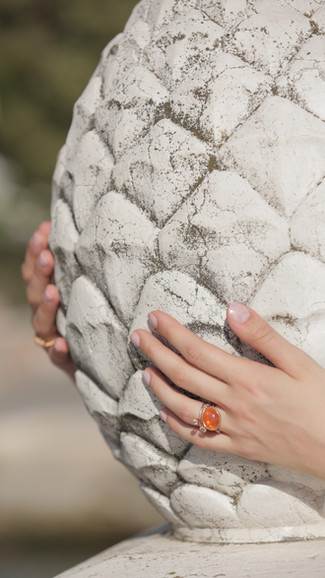 RING COMBINATION WITH ORANGE SOFT