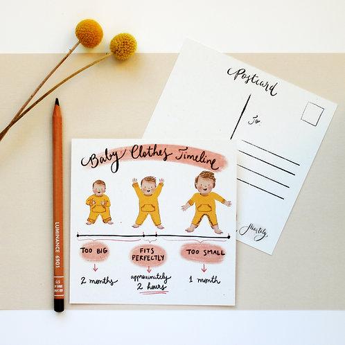 Postcards Set of 5 different illustrations - Set 01