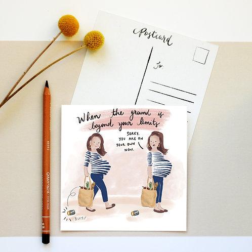 Postcards Set of 5 different illustrations - Set 02