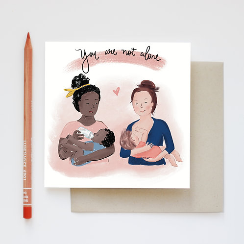 You are not alone - set of 3 cards