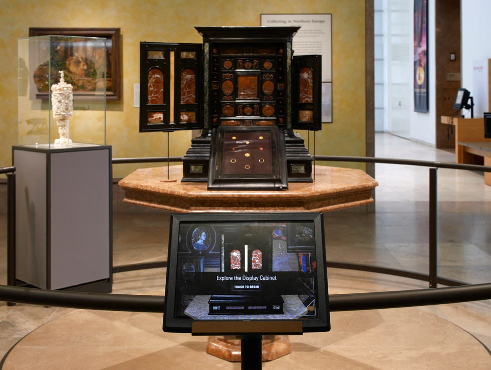 Augsburg cabinet was the first permanent collection digital interactive.