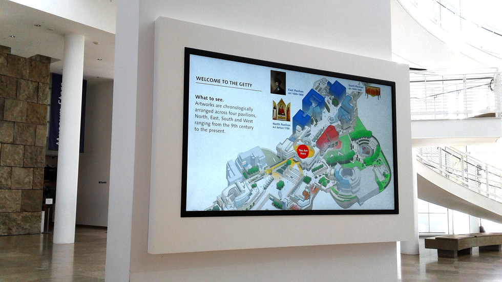 """Video display on 84"""" monitor in the Entrance Hall."""