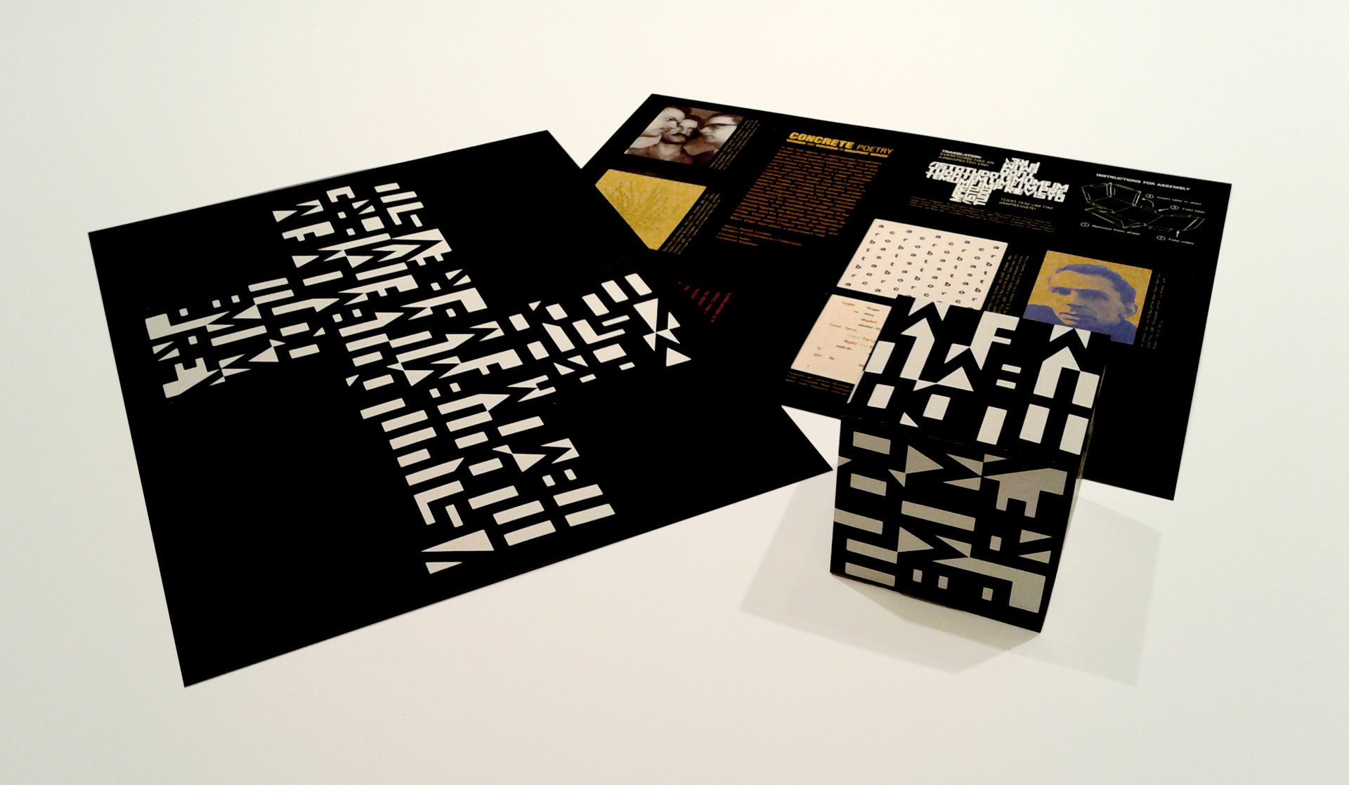 Exhibition brochure was able to be assembled into one of the artworks on view.