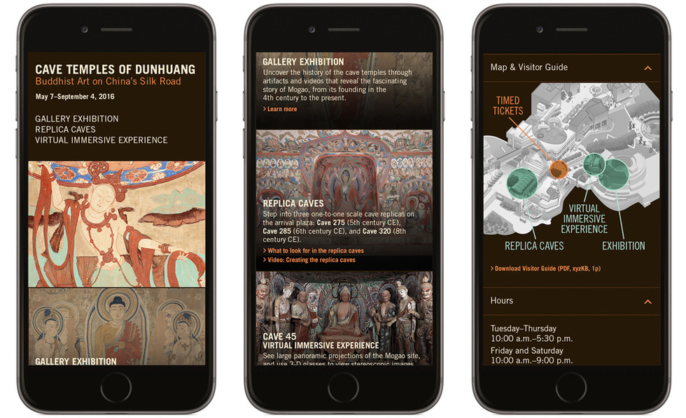 A Mobile Website gave visitors information about all three of the exhibit components.
