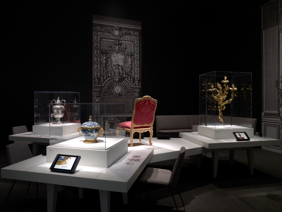 Four objects were displayed on a single Corian table. The majority of the interpretive content for the four objects was delivered on iPads through the Getty's first iPad app.