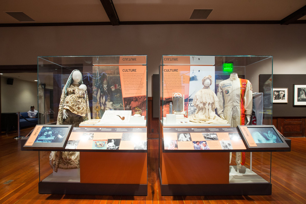 Display cases were designed to be removable for lectures and performances.