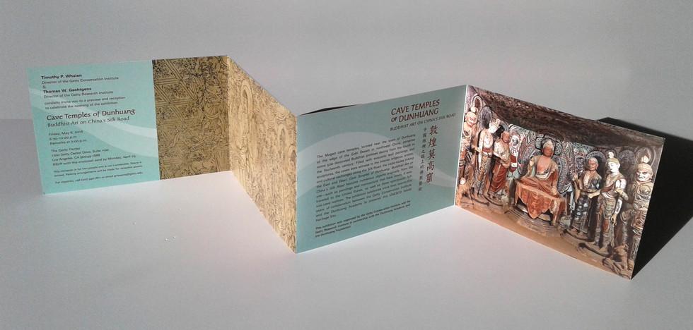 Exhibition four panel fold invitation.