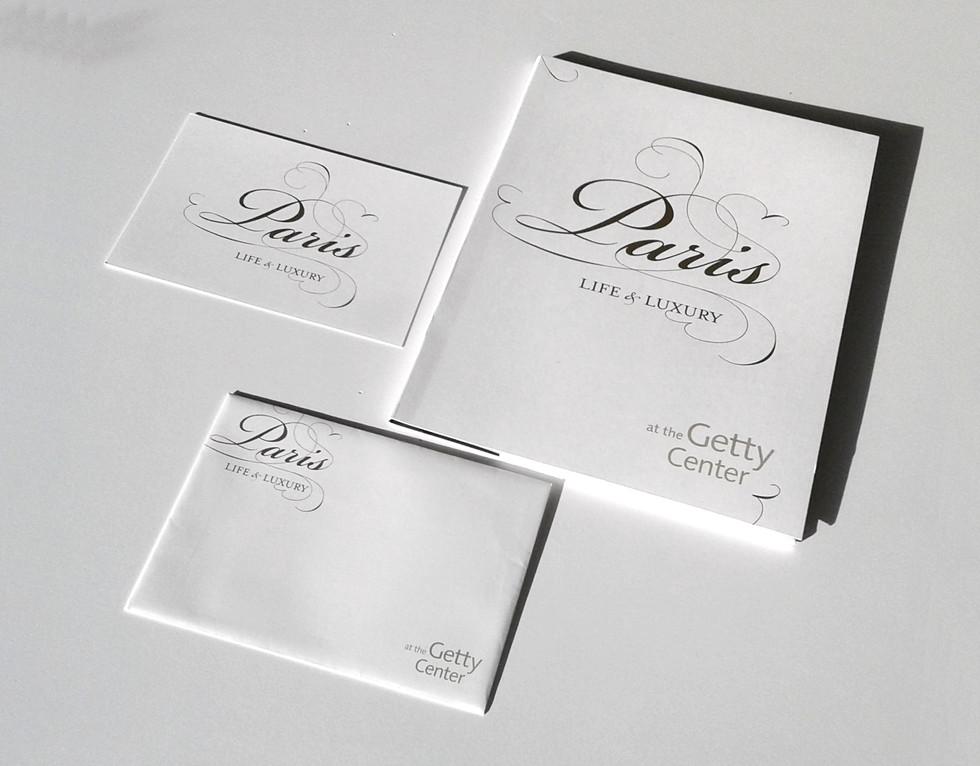 Custom press kit cover, envelope and RSVP card.
