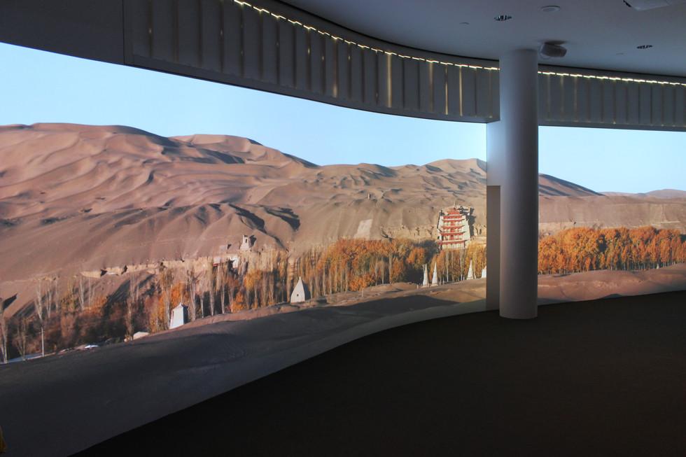 Projection mapped foyer presentation.