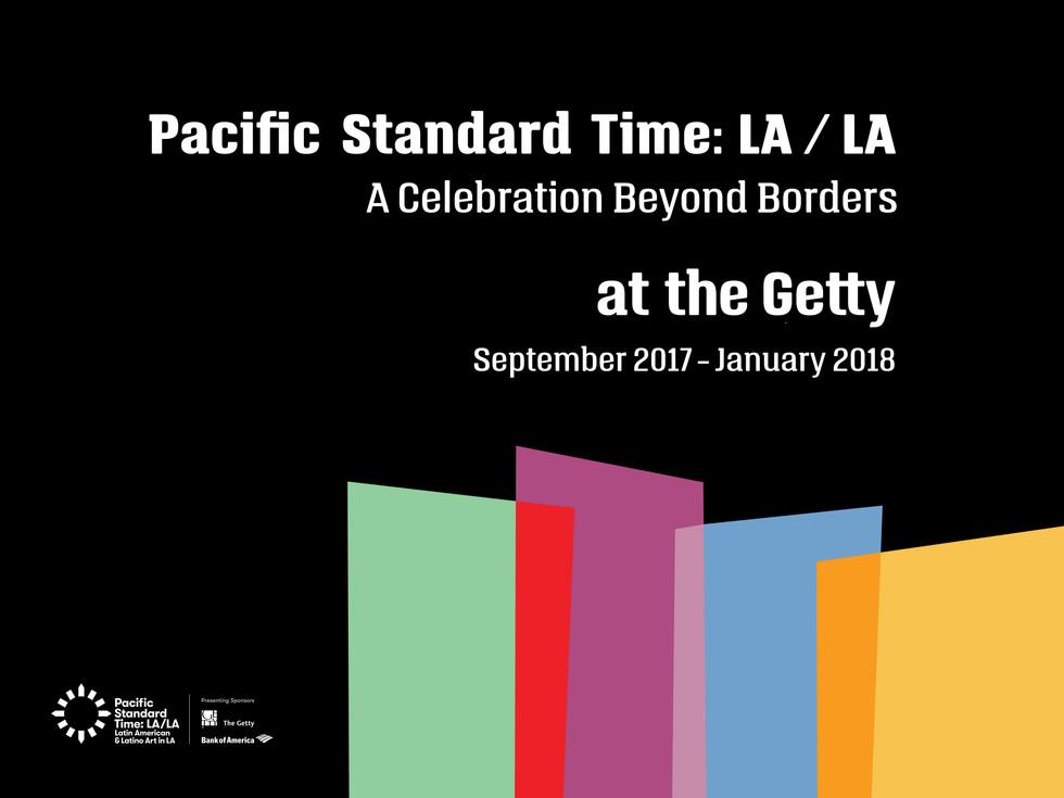 PST LA/LA at the Getty graphic identity.
