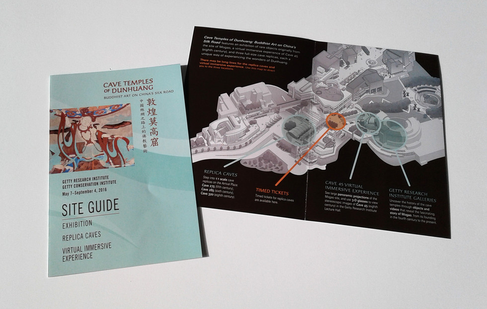 Exhibition Site Map was handed to every visitor to the Getty.