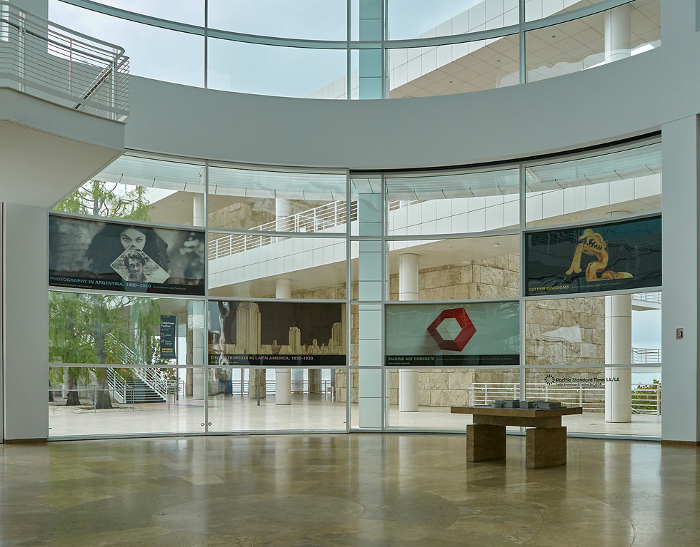 Window cling graphics in the Museum Entrance Hall.