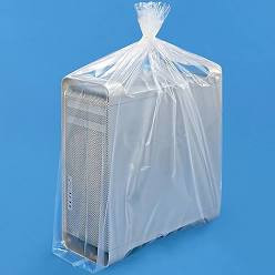 Computer wrapped in plastic bag