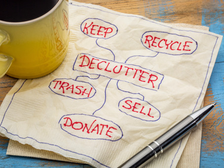 A Decluttering Checklist helps you decide what to get rid of.
