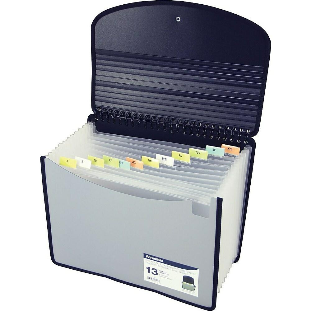 Grey Plastic Expanding Accordion File