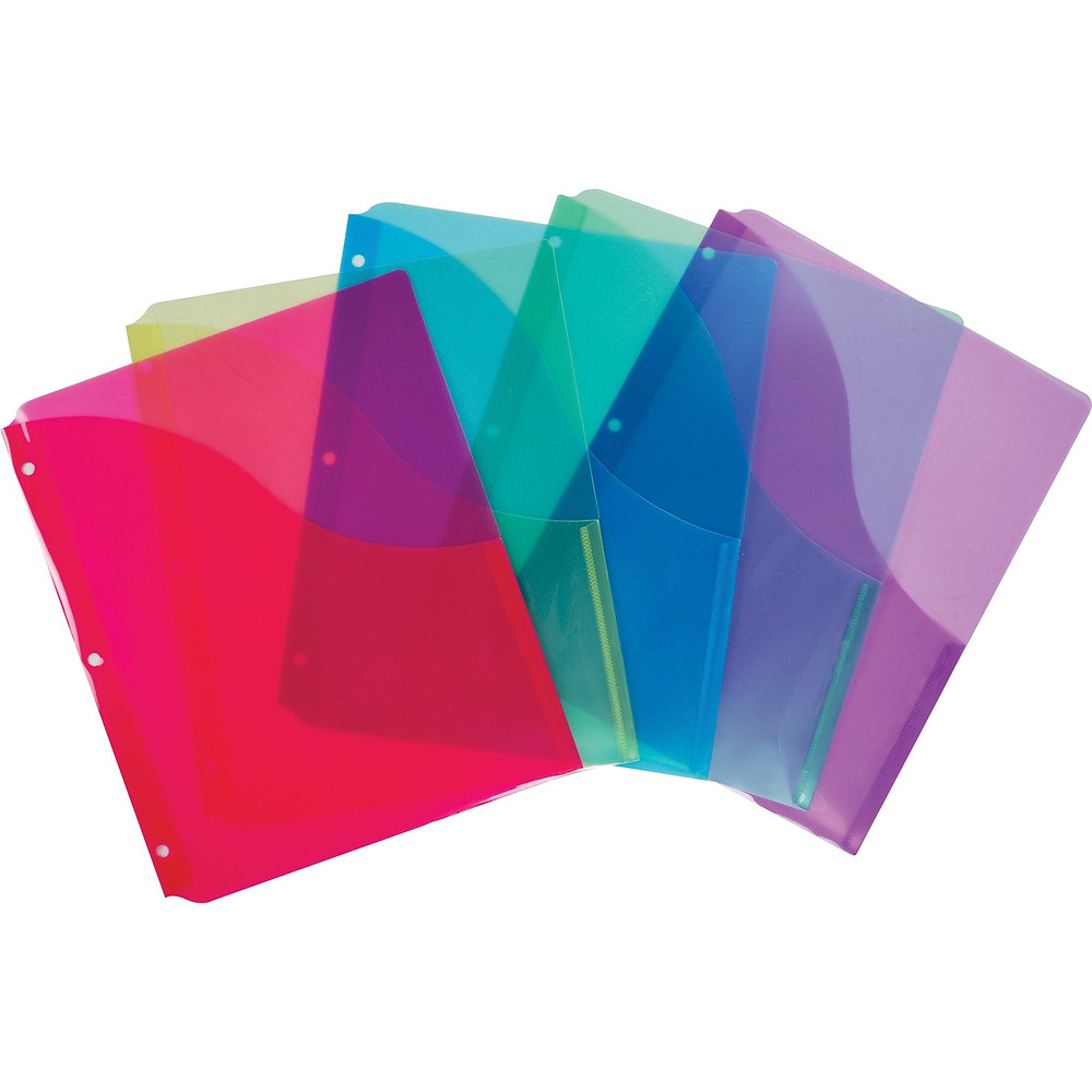 Colourful Folders with Slash Pockets