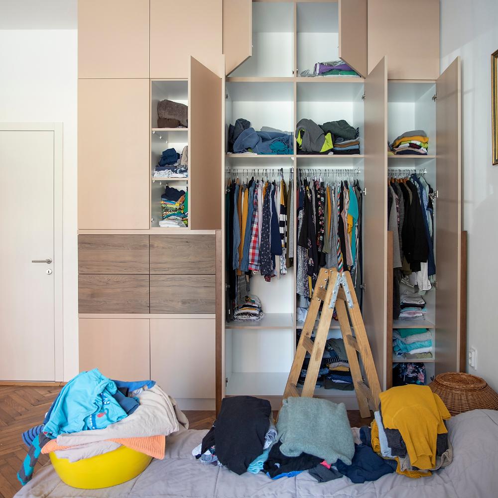 Closet being Decluttered