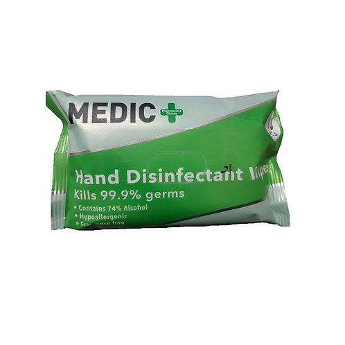 Medic Hand Disinfectant Wipes