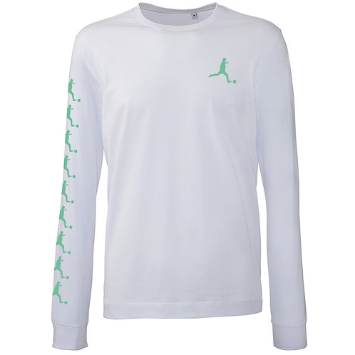 "Fashion Longsleeve ""Player"", white"