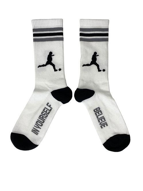 """Sportsocks """"Player"""", white-black-grey"""