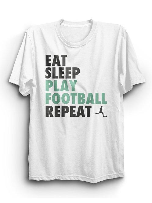 "Kids Fashion Shirt ""Eat Sleep"", white"