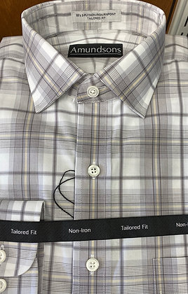 Amundsons - Grey plaid - All cotton wrinkle free