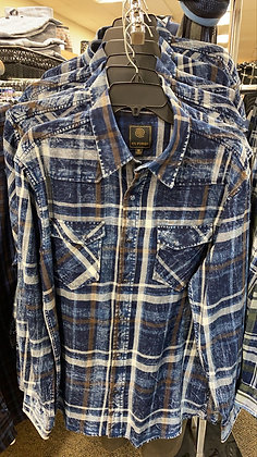 Denim friendly western shirt