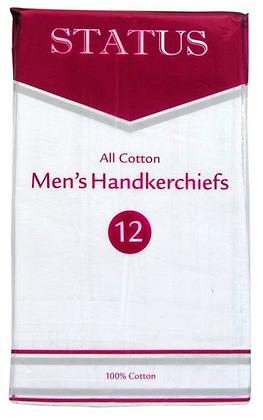 12 Pack of All Cotton Hankerchiefs