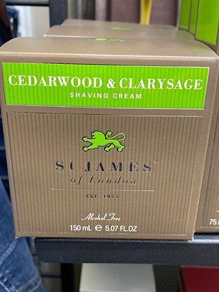St. James Shaving Creme  - Cedarwood