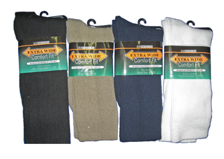 EXTRA WIDE COMFORT ATHLETIC SOCK