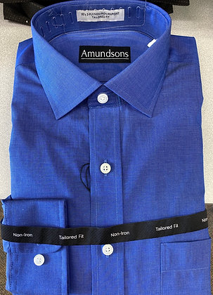 Amundsons - French blue all cotton wrinkle free